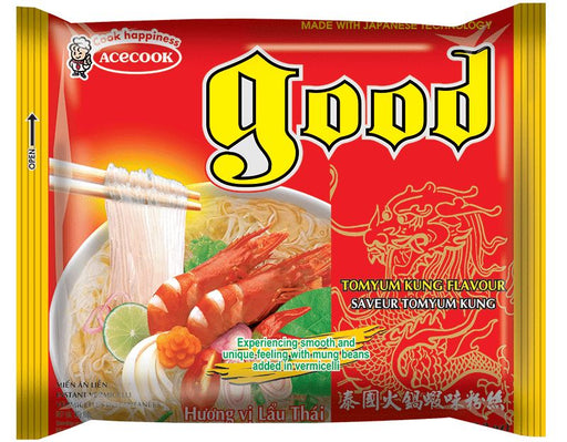 Acecook GOOD Mien Lau Thai Instant Vermicelli Tomyum Kung 61g - Yin Yam - Asian Grocery