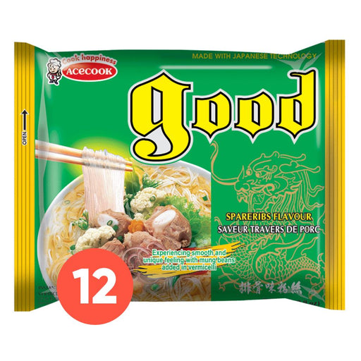 Acecook GOOD Mien Suon Heo Instant Vermicelli Spareribs 56g-Pack x 12 - Yin Yam - Asian Grocery