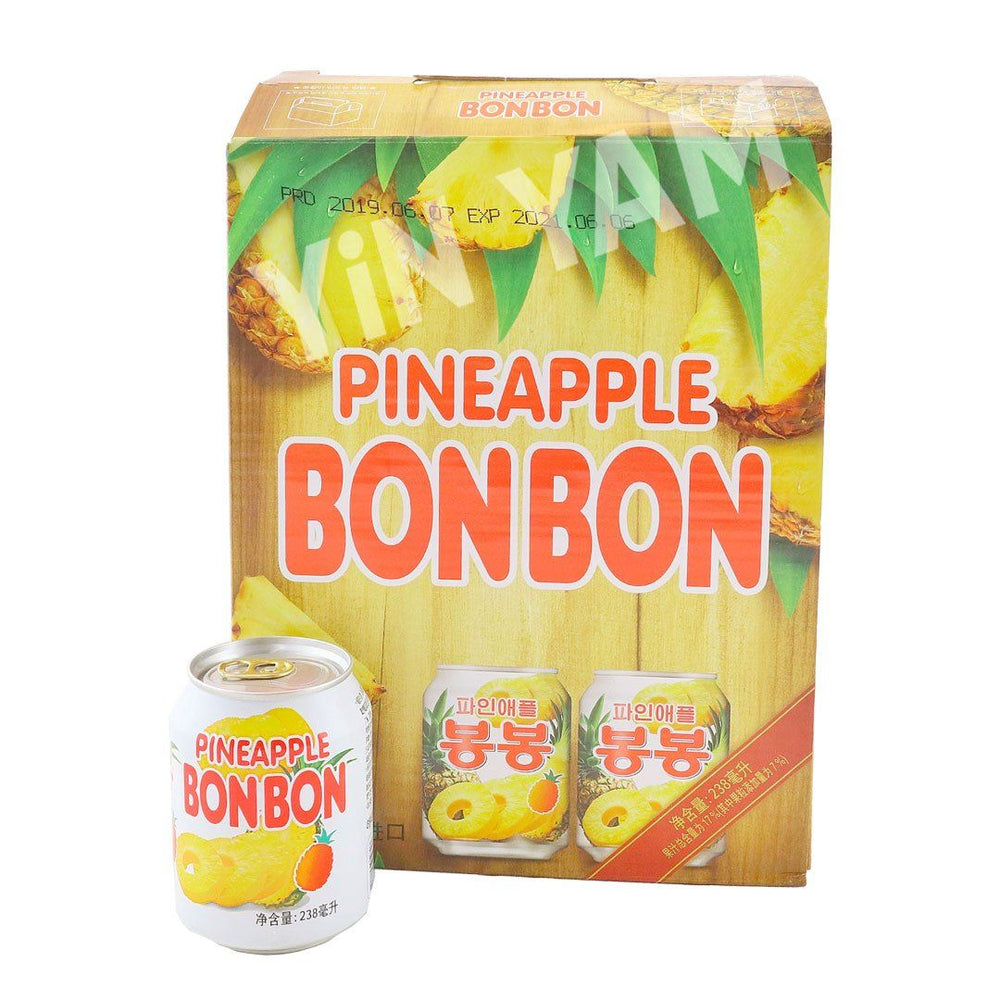 Haitai Bon Bon Pineapple Juice 238ml-Pack of 12 - Yin Yam - Asian Grocery