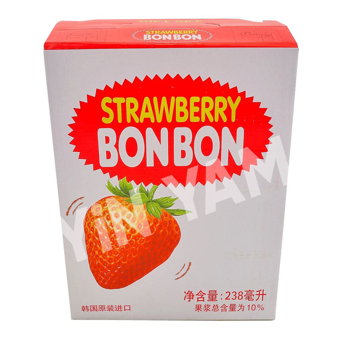 Haitai Bon Bon Strawberry Juice 238ml-Pack of 12 - Yin Yam - Asian Grocery