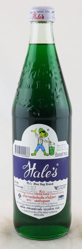 Hale's Blue Boy Cream Soda Flavoured Syrup 710ml - Yin Yam - Asian Grocery