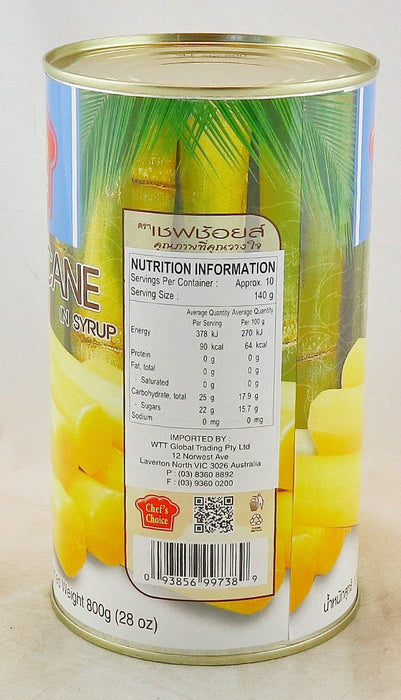 Chef's Choice Sugarcane in Syrup 1.36kg - Yin Yam - Asian Grocery