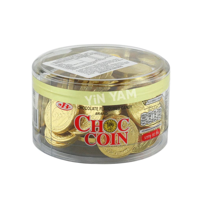 JB Choc Coin Gold Chocolate Flv 60pcs 168g - Yin Yam - Asian Grocery