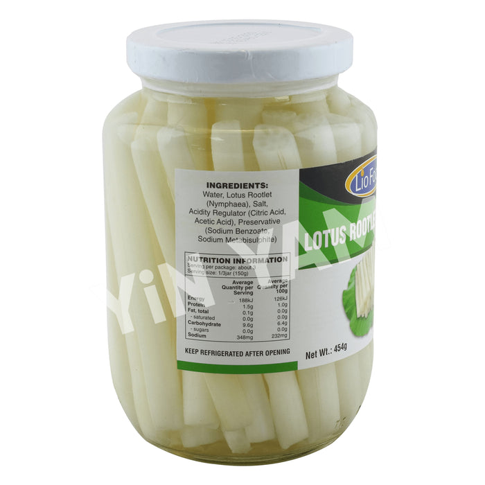 Lio Food Lotus Rootlet in Brine 454g - Yin Yam - Asian Grocery