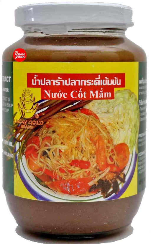 Lucky Gold Pickled Gouramy Fish Extract NUOC COT MAM 500ml - Yin Yam - Asian Grocery