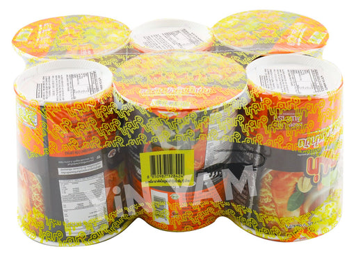 Mama Instant Noodles Cup CREAMY TOM YUM SHRIMP 60g-Pack of 6 - Yin Yam - Asian Grocery