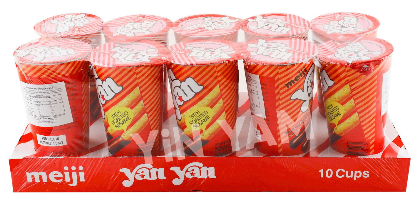 Meiji Yan Yan Chocolate 50G-Pack of 10 - Yin Yam - Asian Grocery