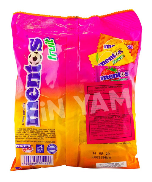 Mentos Fruit Candy Bag 135g - Yin Yam - Asian Grocery