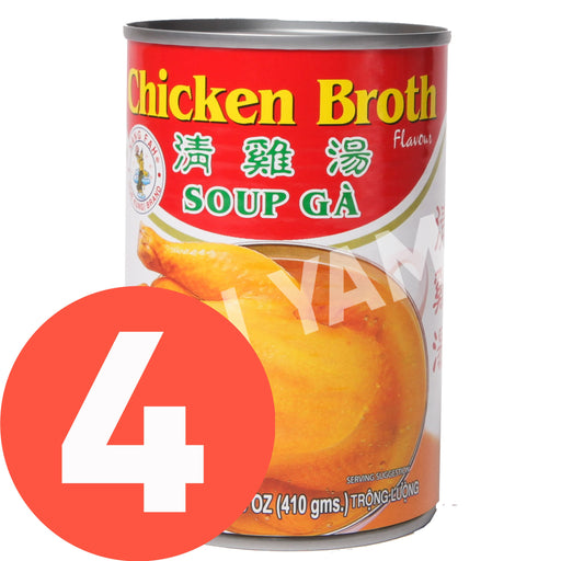 Nang Fah Chicken Broth 411g-Pack of 4 - Yin Yam - Asian Grocery