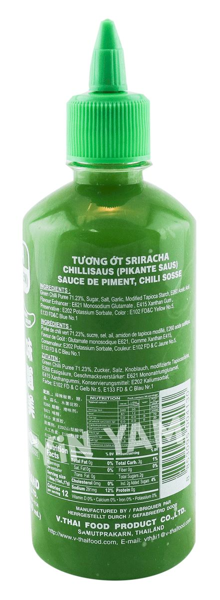 Nang Fah Sriracha Hot Chili Sauce GREEN 450ml - Yin Yam - Asian Grocery