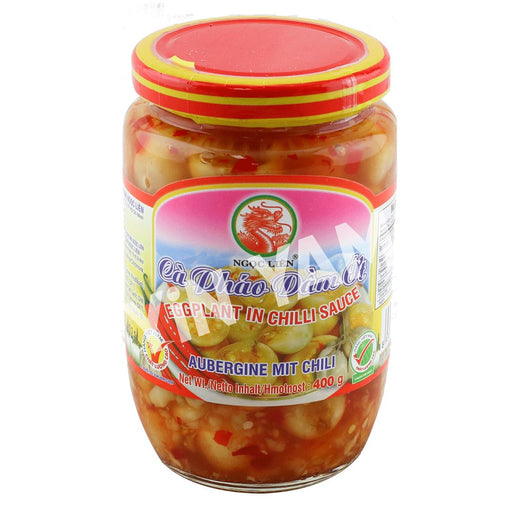 Ngoc Lien Ca Phao Dam Ot  Pickled Eggplant in Chilli 380ml - Yin Yam - Asian Grocery