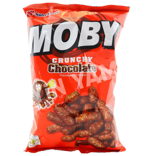 Nutri Snack MOBY Crunchy Chocolate Flavored Corn Snack 90g - Yin Yam - Asian Grocery