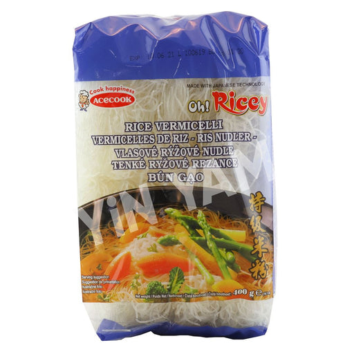 Acecook Oh Ricey Bun Gao Rice Vermicelli 400g - Yin Yam - Asian Grocery