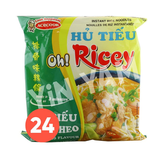 Acecook Oh Ricey HU TIEU SUON Spareribs Flavour Instant Noodles 70g-Carton x 24 - Yin Yam - Asian Grocery