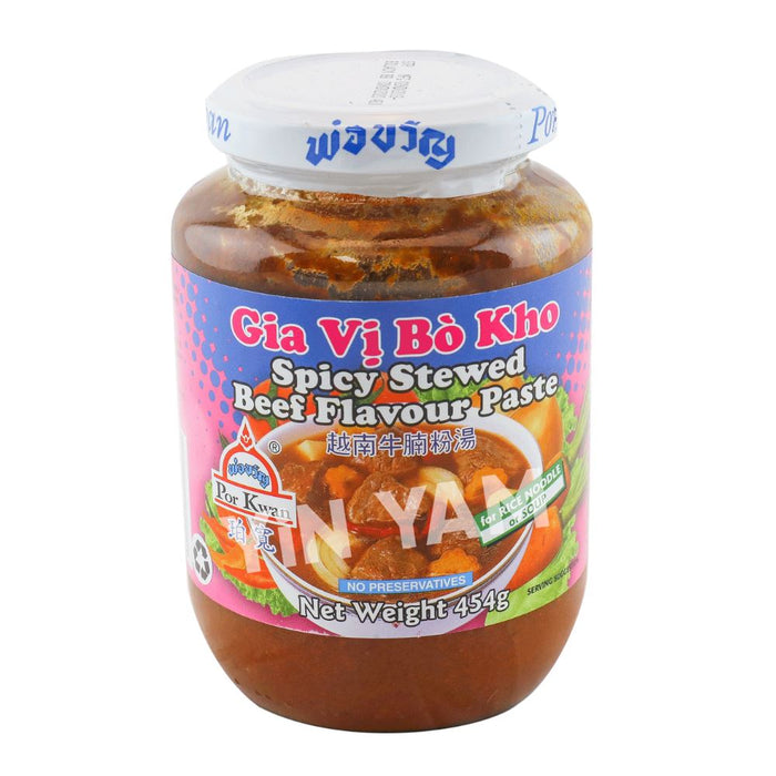 Por Kwan Spicy Stew Beef Flavour Paste Gia Vi Bo Kho 454g - Yin Yam - Asian Grocery