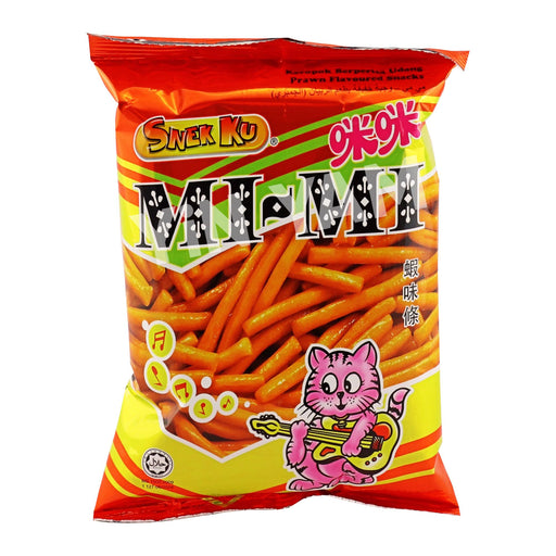 Snekku Mimi Prawn Flv Snacks 80g - Yin Yam - Asian Grocery