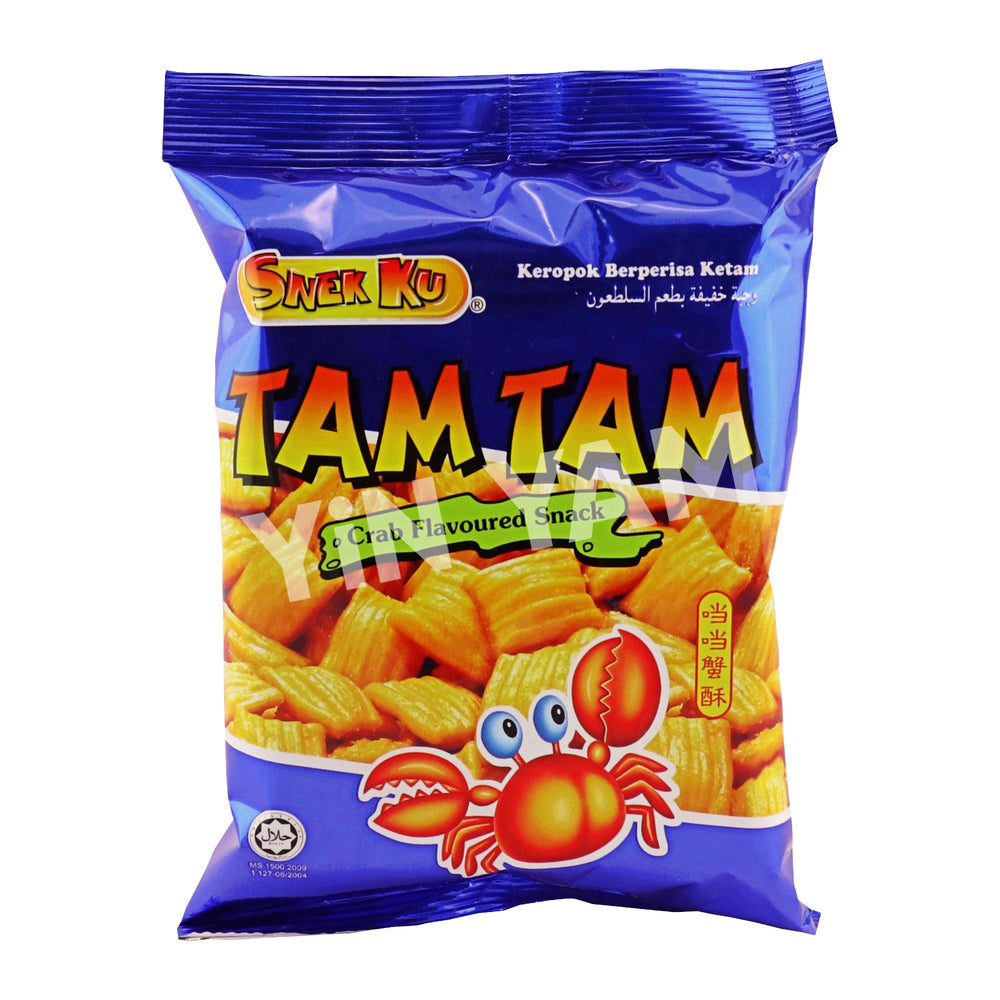 Snekku Tam Tam Crab Flv Snacks 80g - Yin Yam - Asian Grocery