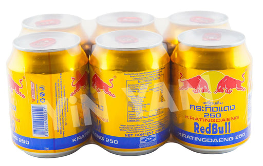 Red Bull Gold Can 250ml-Pack of 6 - Yin Yam - Asian Grocery