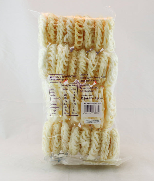 Rotary Palembang Bawang Garlic Crackers 185g - Yin Yam - Asian Grocery