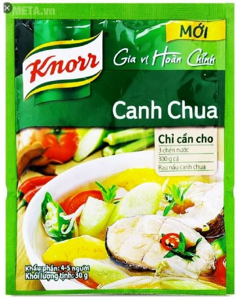 Knorr Canh Chua Soup Seasoning 30g - Yin Yam - Asian Grocery