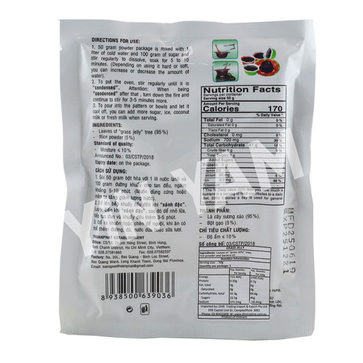 TP Grass Jelly Powder 50g - Yin Yam - Asian Grocery
