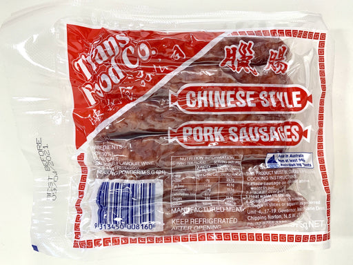 Tran's Food Co Chinese Style Pork Sausages 375g - Yin Yam - Asian Grocery