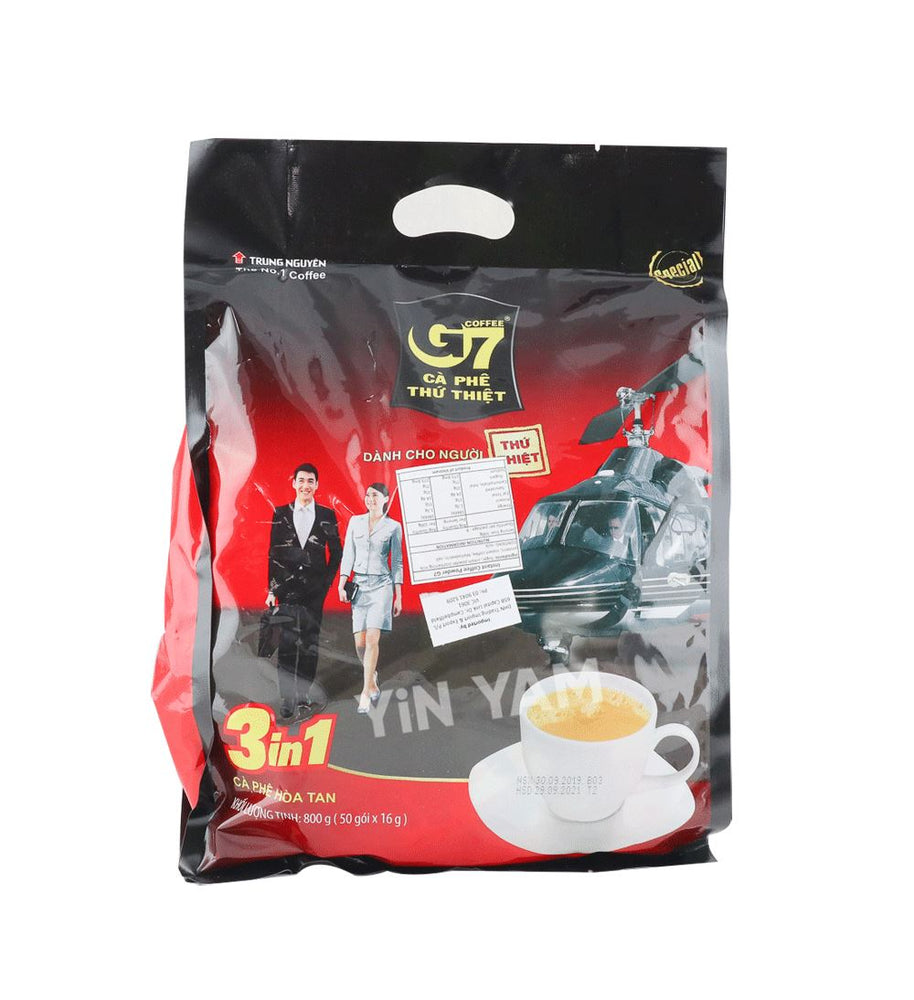 Trung Nguyen Ca Phe Thu Thiet G7 Instant Coffee 50 x 16g (helicopter) - Yin Yam - Asian Grocery
