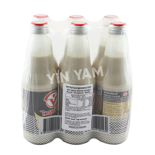 Vitamilk Th Soy Milk Double Black 300ml Bottle-Pack of 6