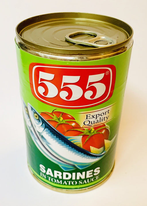 555 Sardines in Tomato Sauce LARGE 425g Canned Fish 555