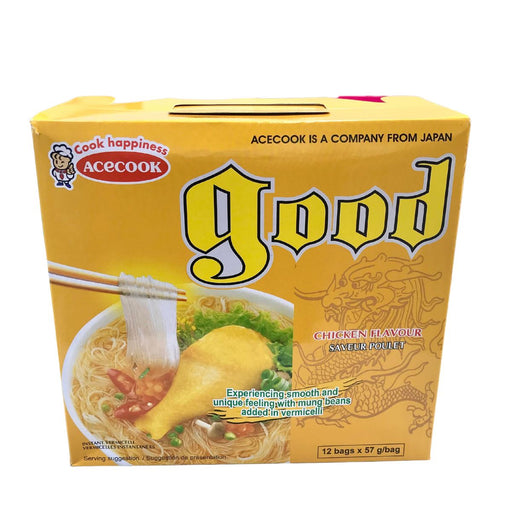 Acecook GOOD Mien Ga Instant Vermicelli Chicken 56g-Pack of 12