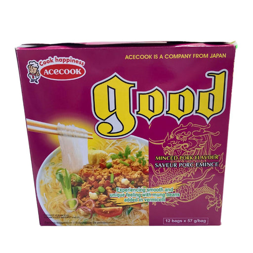 Acecook GOOD Mien Thit Bam Instant Vermicelli Minced Pork Flavour 57g -Pack of 12