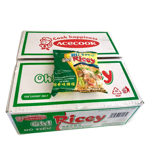 Acecook Oh Ricey HU TIEU SUON Spareribs Flavour Instant Noodles 70g-Carton x 24