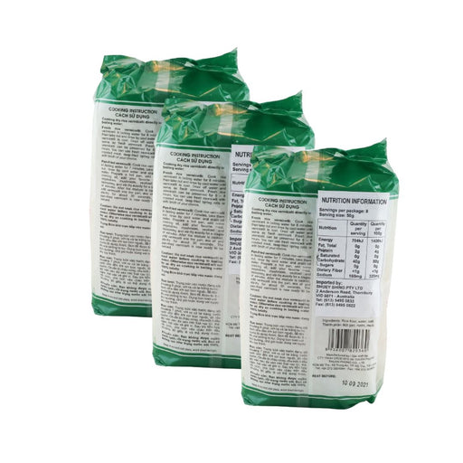Bamboo Tree BUN TUOI Fresh Rice Vermicelli 400g-Pack of 3