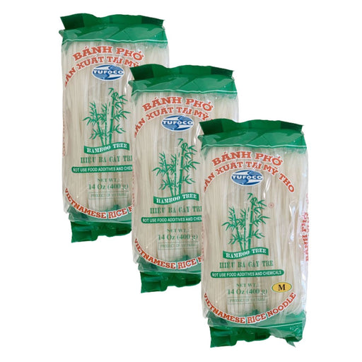Bamboo Tree BANH PHO Vietnamese Rice Noodle (M) 400g-Pack of 3