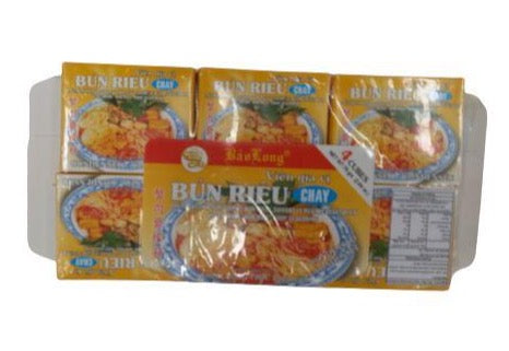 Bao Long CUBE BUN RIEU CHAY Soup Seasoning 75g-Pack x 12
