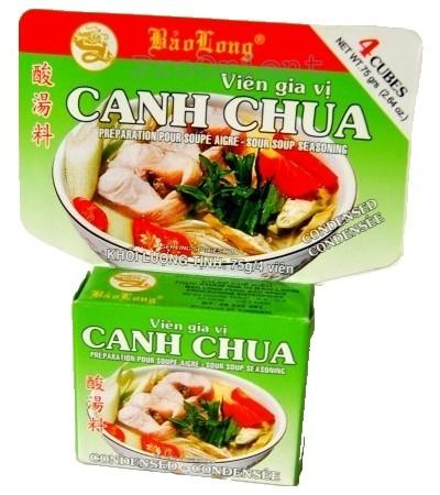 Bao Long CUBE CANH CHUA Soup Seasoning 75g - Yin Yam - Asian Grocery