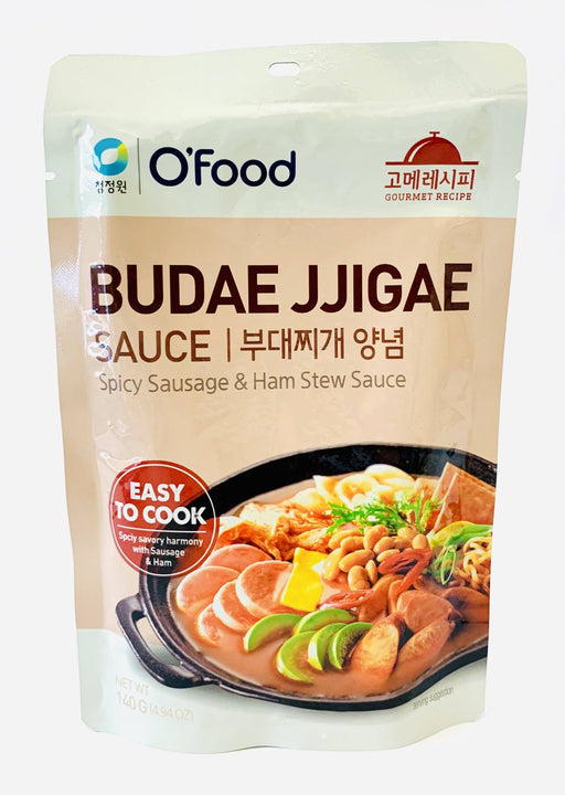 Chung Jung One BUDAE JJIGAE Spicy Sausage & Ham Stew Sauce 140g Sauce Chung Jung One