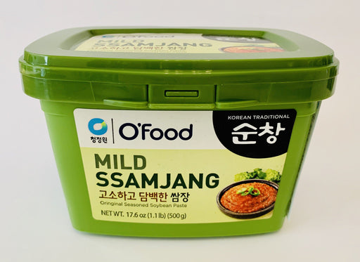 Chung Jung One MILD SSAMJANG Seasoned Soybean Paste (GREEN) 500g Sauce Chung Jung One
