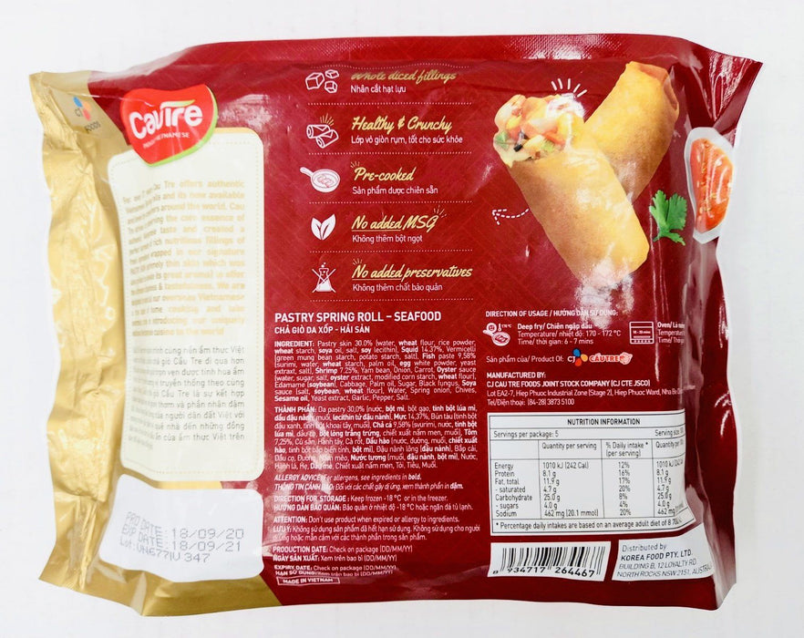 CJ FROZEN Authentic Vientamese CHA GIO Spring Roll Seafood 500g