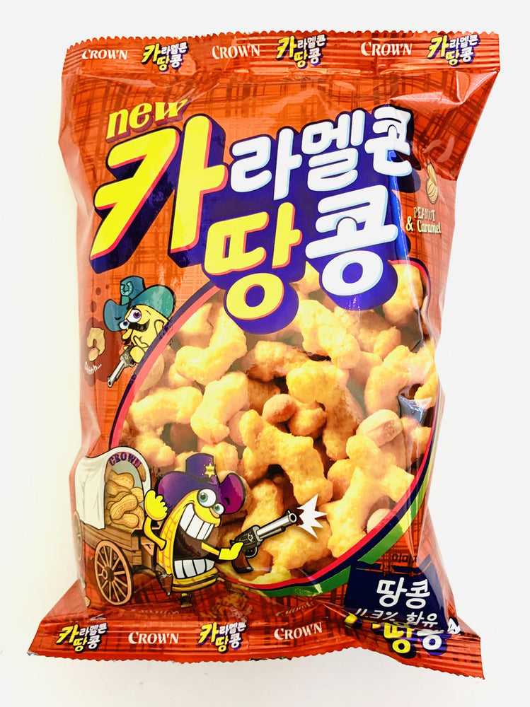Crown Peanut  & Caramel Snack 72g