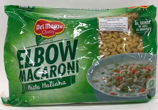 Del Monte Elbow Macaroni Pasta Italiana 1kg - Yin Yam - Asian Grocery