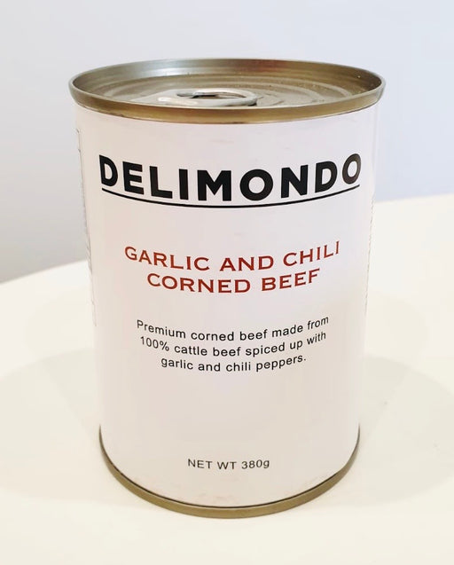 Delimondo Garlic and Chili Corned Beef 380g LARGE