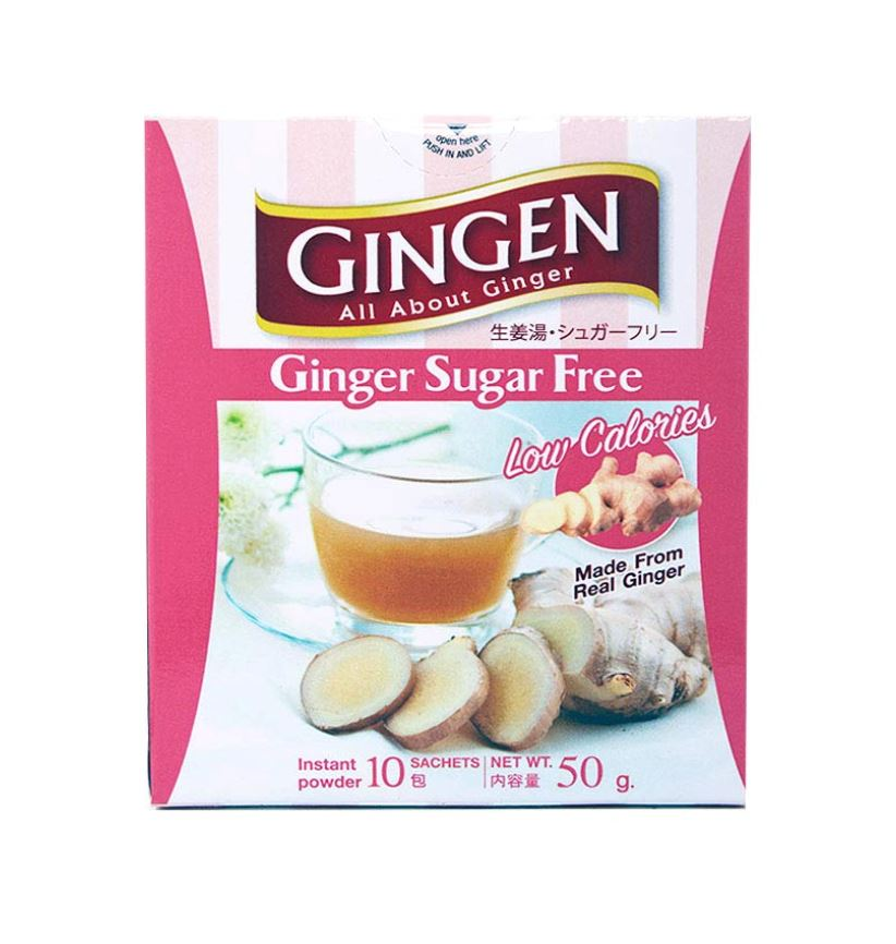 Gingen Ginger Instant Powder SUGAR FREE 10 sachets 50g - Yin Yam - Asian Grocery