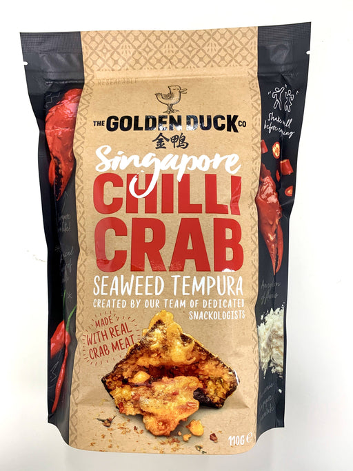 Golden Duck Singapore CHILLI CRAB Seaweed Tempura 110g - Yin Yam - Asian Grocery