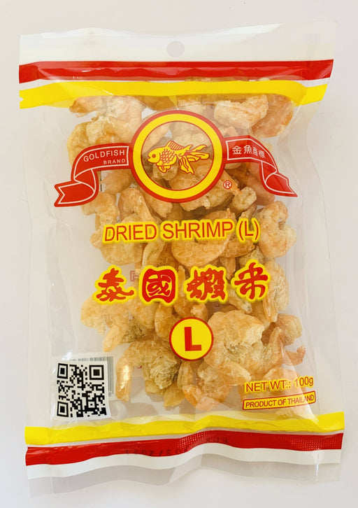 Goldfish Brand Dried Shrimp (L) 100g Grocery Superior Quality