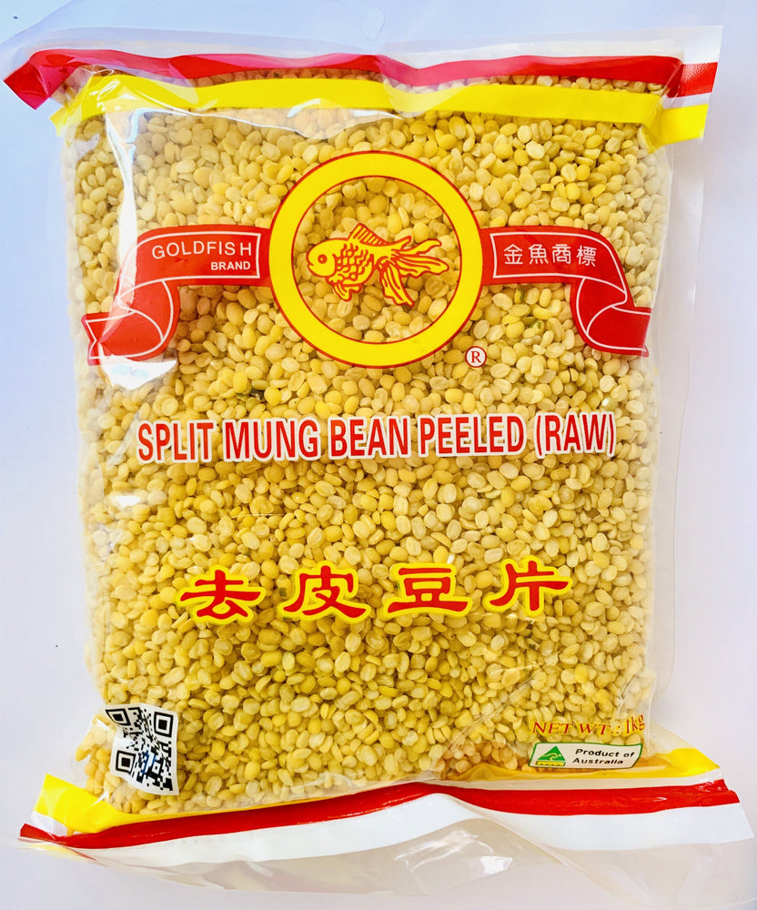 Goldfish Brand Split Mung Bean PEELED (RAW) 1kg Nut Goldfish Brand