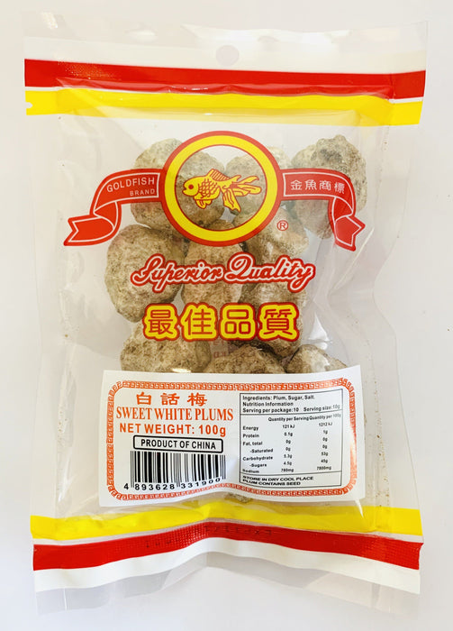 Goldfish Brand Salted Sweet White Plums 100g Grocery Goldfish Brand