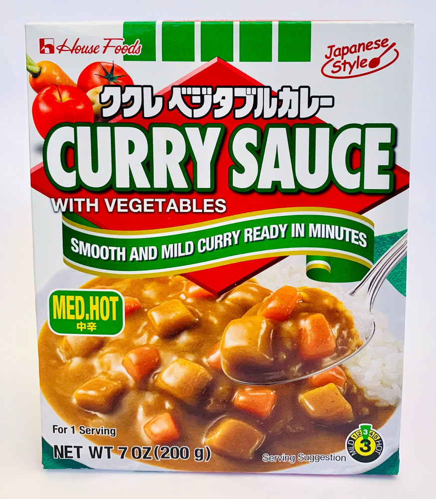 House Foods Curry Sauce with Vegetables MED HOT 200g