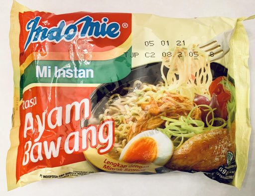 Indomie AYAM BAWANG Chicken Onion Instant Noodles (69g x 5 Packs) Instant Meals Indomie