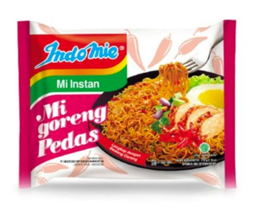 Indomie Mi Goreng PEDAS Spicy Fried Noodles 85g-Carton x 40 - Yin Yam - Asian Grocery